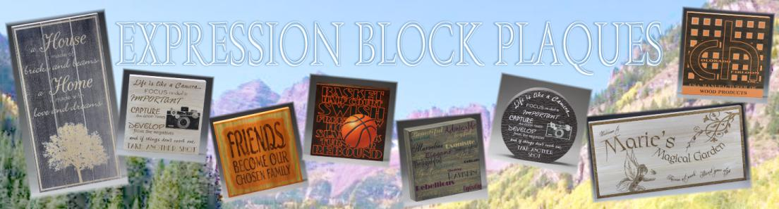 Wood Expression Block Plaques from Colorado Heirloom