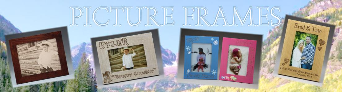 Hardwood Picture Frames from Colorado Heirloom