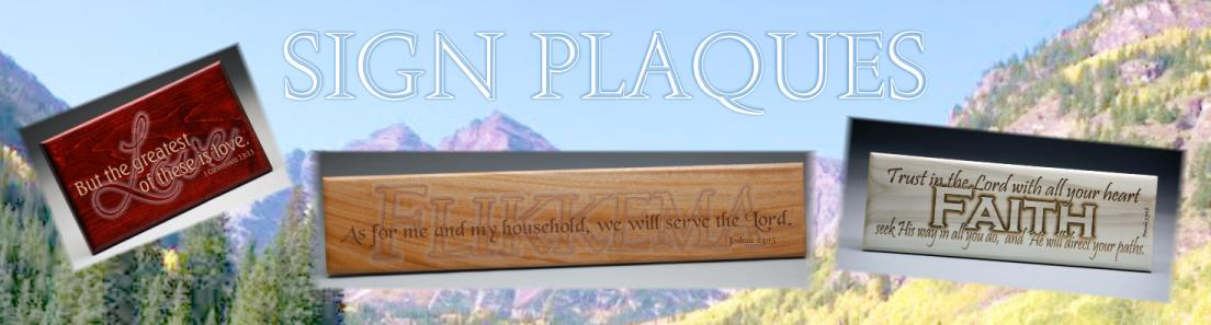 Colorado Heirloom Solid Wood Sign Plaques