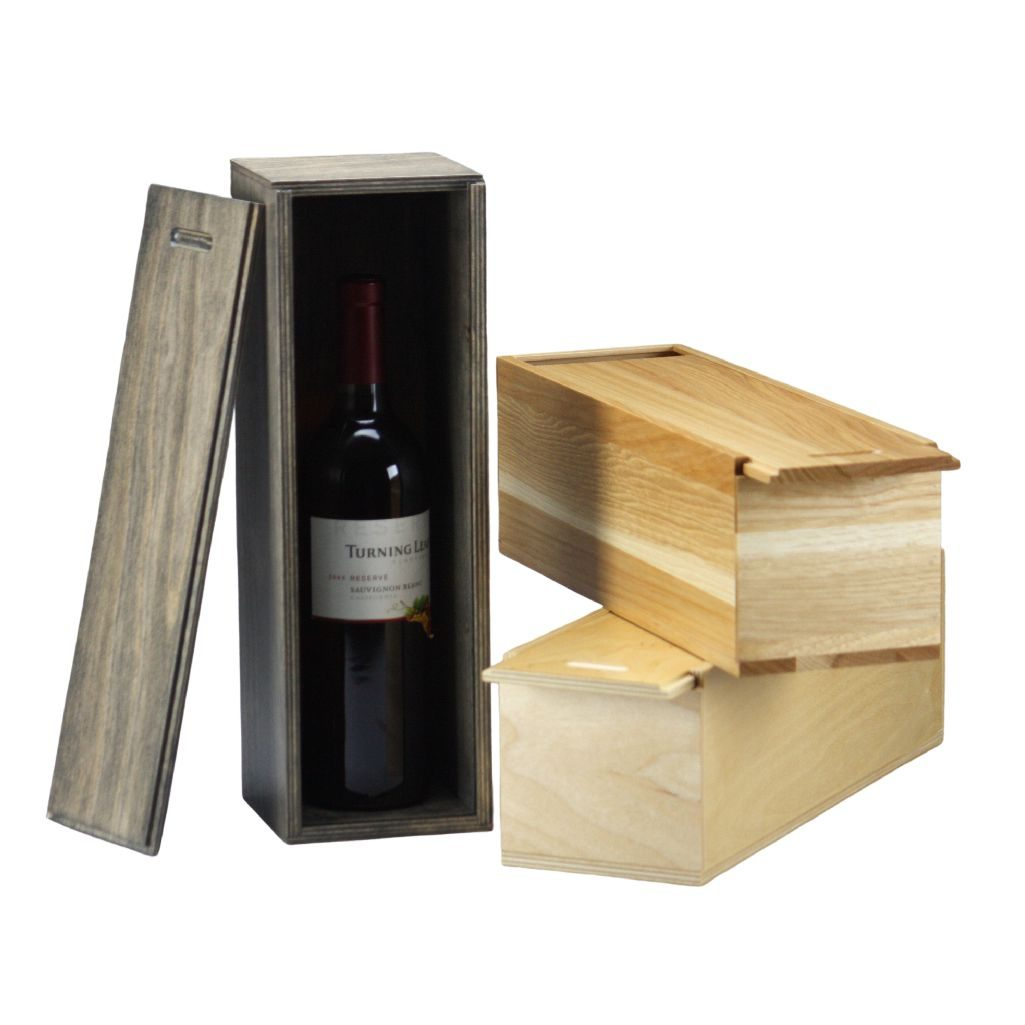 Slide Lid <br/>Single Wine  Box