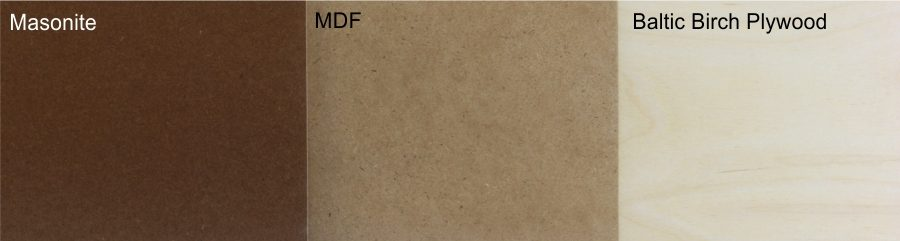 "Baltic Birch Ply or Masonite or MDF Strip<br/> 4.5"" x 24"" x<br/> (1/8"" or 1/4"") - BBPLY4-BB-1/8-F"